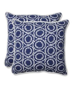 Look at this #zulilyfind! Ring a Bell Throw Pillow - Set of Two #zulilyfinds