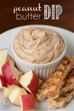 Try this peanut butter dip which can be mixed up in five minutes.