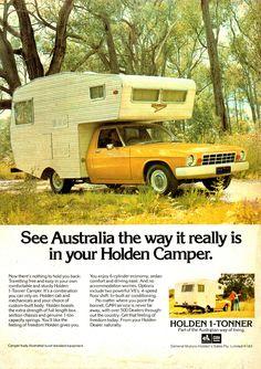 Vintage Luggage, Vintage Ads, Holden Kingswood, Holden Australia, Holden Monaro, Motorhome Interior, Aussie Muscle Cars, Australian Cars, Car Advertising
