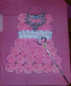 Princess dress cupcake  display