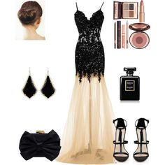 Madame in black by christine-792 on Polyvore featuring Forever New, Franchi, Kendra Scott, Chanel and Charlotte Tilbury