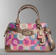 colorful coach purses | Coach Penelope Op Art Travel Bag - Purses, Designer Handbags and ...