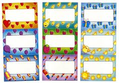 cartelitos nombres maestra infantil Kindergarten Activities, Diy And Crafts, Projects To Try, Bullet Journal, Printables, Stickers, Cards, Color, Google