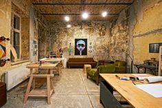 meuble en palette idée intérieur design industriel moderne déco chaise bois table en bois