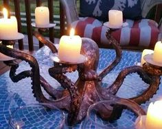 cool octopus candle holder