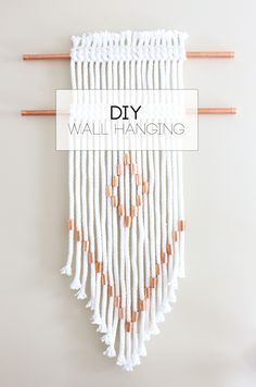 DIY Rope + Copper Wall Hanging