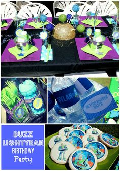 Buzz Lightyear Birthday. I like the pizza planet pizza, moon pies, and edible pix on sugar cookies.