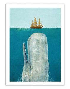 Vous avez enregistré sur WALL EDITIONS Art-Posters  Art-Poster Wall Editions : The Whale by Terry Fan. Format : 50 x 70 cm. #terryfan #mobydick #whale #affiche #poster #print #art #walleditions #frame