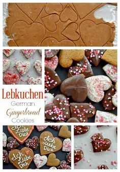 Lebkuchen – German Gingerbread Cookies Lebkuchen – a traditional German gingerbread cookie. Popular around Oktoberfest, Christmas, and Valentine's Day Shaped Cookie, Cookie Bars, Cookie Recipes, Dessert Recipes, Yummy Recipes, Desserts, Recipies, German Cookies, German Christmas Cookies