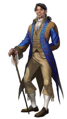 Human Aristocrat Noble - Pathfinder PFRPG DND D&D d20 fantasy
