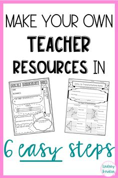 Make your own teacher resources in 6 easy steps. Make worksheets, assessments, and more using PowerPoint. : Make your own teacher resources in 6 easy steps. Make worksheets, assessments, and more using PowerPoint. Teacher Hacks, Your Teacher, Teacher Pay Teachers, Teacher Survival, Teacher Binder, Teacher Worksheets, Teacher Resources, Resource Teacher, Teacher Blogs