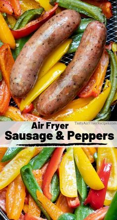This Air Fryer Sausage and Peppers Recipe is great for a quick weeknight dinner. - This Air Fryer Sausage and Peppers Recipe is great for a quick weeknight dinner idea. Peppers and - Air Fryer Recipes Chips, Air Fryer Recipes Vegetables, Air Fryer Recipes Low Carb, Air Frier Recipes, Air Fryer Recipes Breakfast, Air Fryer Dinner Recipes, Breakfast Gravy, Breakfast Ideas, Breakfast Cooking