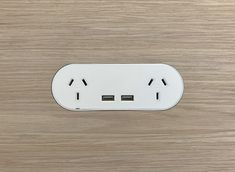 ZETR double outlet with double USB in matte white finished flush in veneer with our adjustable mounting assembly. Installation Manual, Electrical Outlets, Wall Colors, Minimalist Design, It Is Finished, Usb, Kitchen Ideas, Surface, Concept