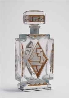 1920s Czech Art Deco Perfume Bottle
