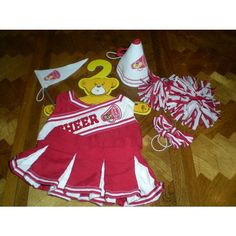 "Build a Bear Workshop Red Cheerleader Outfit with Accessories, 15"" Listing in…"