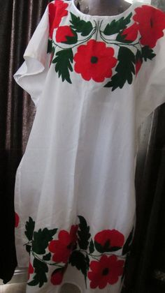 Mexican Embroidered Long Dress