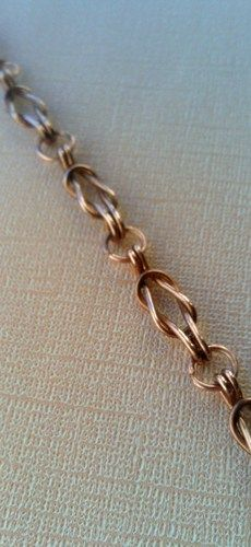 Tophatter : Copper Love Knot Bracelet-Bonus Earrings at $20