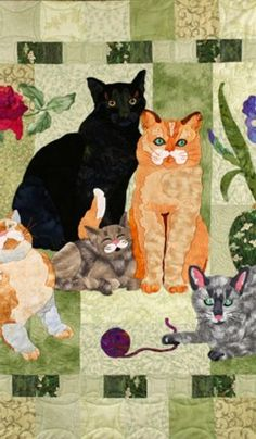 Gorgeous cat quilt! @Nancy Grisham Thelma, this makes me think of you :)