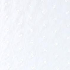 Engelsk blonde m/blomster, hvit