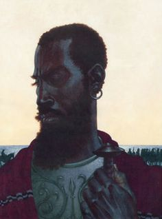 Act I scene ii 31, Othello: My parts, my title and my perfect soul/Shall manifest me rightly. Is it they?  [ Kadir Nelson]
