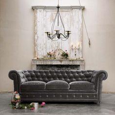 An amazing example of velvet grey upholstery #sofa #velvet #grey #interior #design #upholstery