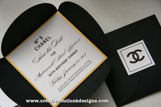 Our Chanel inspired save the date #invitation   by CreativeOutlookDesigns