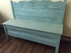Cool Make a Bench from a Headboard and Footboard