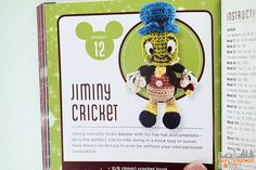Project 12: Jiminy Cricket - Classic Disney Crochet Patterns and Kit - 12 Characters! ad