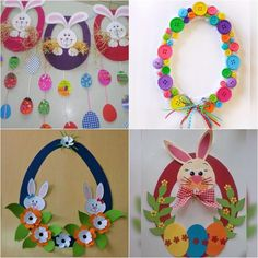 How to Make a Paper Plate Easter Egg Wreath - This colorful paper plate Easter Wreath is a simple and easy Easter Craft idea for kids of all ages to make. Cute DIY Easter decoration for home. Easter Art, Bunny Crafts, Easter Crafts For Kids, Easter Eggs, Easter Ideas, Summer Crafts, Easter Activities, Preschool Crafts, Arts And Crafts