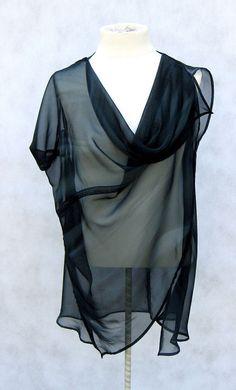 Cascade TunicAsymmetrical Modern Minimalist by danielacosovic #minimalist #fashion