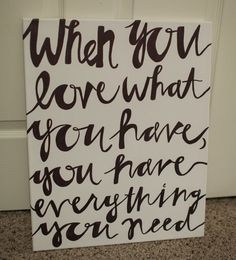 16x20 Hand painted canvas touching quote  by OnceAGinn on Etsy, $30.00