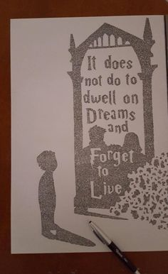 Harry Potter & The Mirror of Erised / It does not do to dwell on dreams and forget to live - Albus Dumbledore