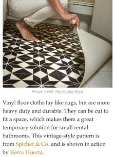 Use vinyl flooring as a temporary solution Vinyl Flooring Basement, Cheap Vinyl Flooring, First Home, Decoration, Monet, Fixer Upper, Bath Mat, My Dream Home, Bathroom Inspiration