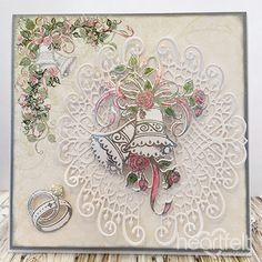 Heartfelt Creations - White Wedding Medallions Project