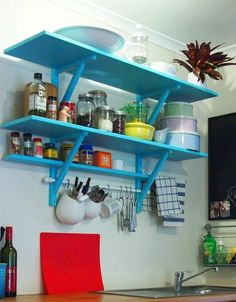 IKEA Hackers: 3 Tiered Country Kitchen Shelves
