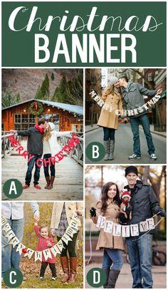 Lots of fun Christmas Card Photo Prop Ideas