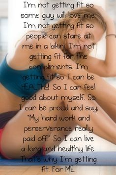 I am getting fit for me... but it feels so good to feel invincible... so I share it with others!