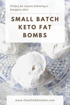 Keto Fat Bombs - this small batch fat bombs recipe requires only a few ingredients! Cream cheese, cream, a low carb sweetener, vanilla, and cinnamon. Fat bombs taste just like mini crustless keto cheesecakes and are perfect for anyone following a ketogenic diet.