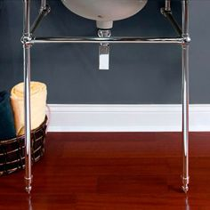 "Complete Brass Console Sink Stand - Up to 60"" - Pedestal Sinks - Bathroom Sinks - Bathroom"