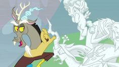 Image - Discord admiring the petrified villains Discord Me, Mlp Pony, My Little Pony Friendship, Pet Shop, Horns, Magic, Pets, Creative, Fun