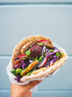 BEETROOT & SMOKED PAPRIKA FALAFEL PITA POCKETS