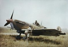 A South African Air Force Spitfire in Gabès, Tunisia, April 1943.