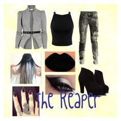 """""""The Reaper"""" by o-hugsandkisses-x ❤ liked on Polyvore featuring Preen, Miss Selfridge and Diesel Black Gold"""