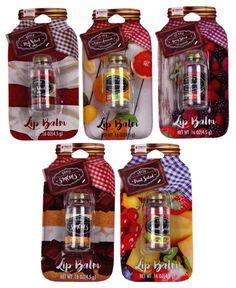 Taste Beauty Mason Jar Flavored Lip Balm Set of 5 Includes: - Baked Red Velvet Cake - Baked Smores - Ice Cold Refreshing Citrus Lemonade - Ice Cold Refreshing Berry Splash - Fresh Fruit Salad Each lip balm - Shaped like a mason jar - Net wt. Flavored Lip Gloss, Homemade Lip Balm, Diy Body Scrub, Nice Lips, Pink Lip Gloss, Tips & Tricks, Mason Jars, Lip Colors, Lipstick Colors