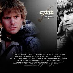 I'm watching The Two Towers and looking at various pins right now, and just as I read this Sam quote, Sam in the movie says this exact quote at the SAME time! Now, explain that. Lotr Characters, Samwise Gamgee, Earth Memes, Into The West, The Two Towers, Middle Earth, Lord Of The Rings, Narnia, Tolkien