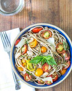 Tomato and Basil Soba Noodles via @ACoupleCooks