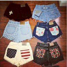 Exemplos de shorts DIY (American shorts IV)