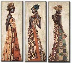Black Girl Art, Black Women Art, Black Art, Beautiful African Women, Safari Decorations, African Art Paintings, Africa Art, Biblical Art, Art Nouveau Design
