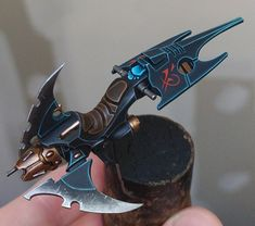 I was told to post that here, here is a wip of my dark eldar (yes I'm old fashioned) reaver. It's a perfect mini to practice edge highlighting on. Hope you like it - Drukhari Warhammer 40k Dark Eldar, Eldar 40k, Warhammer Fantasy, Warhammer 40000, Warhammer Models, Game Workshop, Fantasy Miniatures, The Grim, Alien Logo