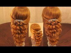 Причёска с помощью резинок - Красота! - 3 (больше воздушности!) - YouTube